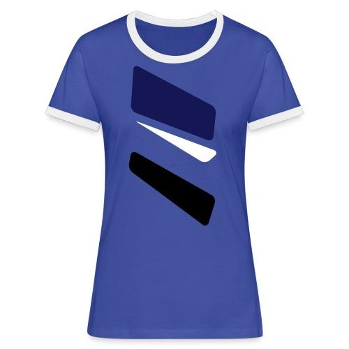 3 strikes triangle - Women's Ringer T-Shirt