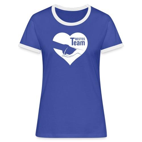 Vorschau: Bestes Team - Frauen Kontrast-T-Shirt