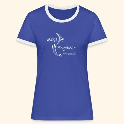 BP transp Schrift - Frauen Kontrast-T-Shirt