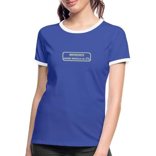 2% Mix - T-shirt contrasté Femme