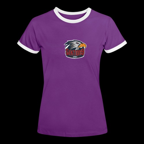 Sektion9 logo Grau - Frauen Kontrast-T-Shirt
