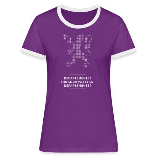 Departementsdepartementet (fra Det norske plagg) - Kontrast-T-skjorte for kvinner