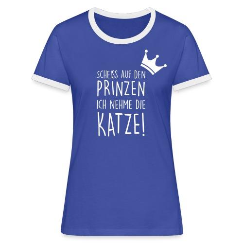 Vorschau: Scheiss auf den Prinzen - Frauen Kontrast-T-Shirt