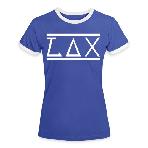 LAX WHITE LOGO KOMBI - Frauen Kontrast-T-Shirt