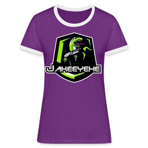 JakeeYeXe Badge - Women's Ringer T-Shirt
