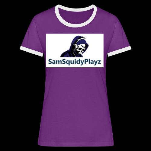 SamSquidyplayz skeleton - Women's Ringer T-Shirt