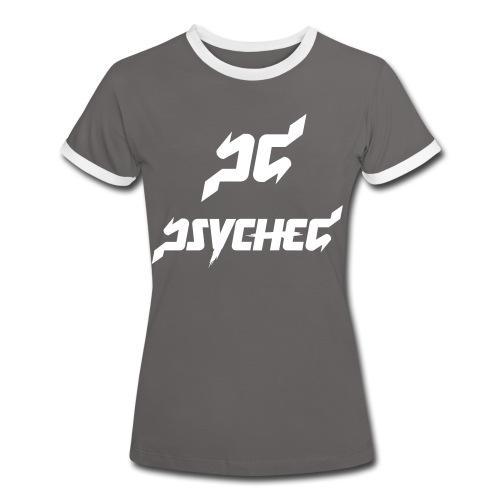 psyched-logo-finalwhite - Vrouwen contrastshirt