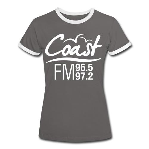 Coast FM single colour print - Women's Ringer T-Shirt