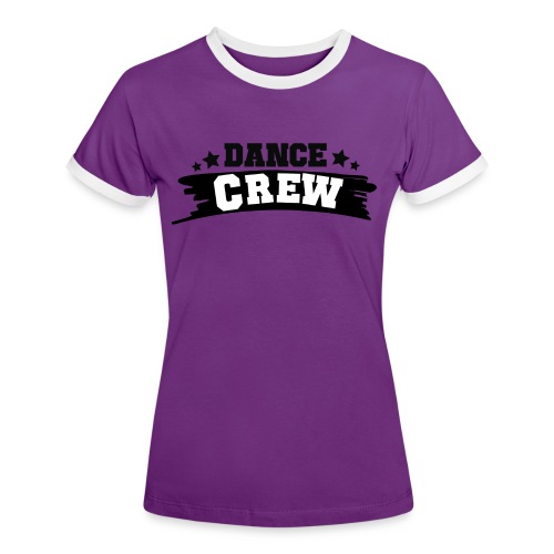 Tshit_Dance_Crew by Lattapon - Dame kontrast-T-shirt