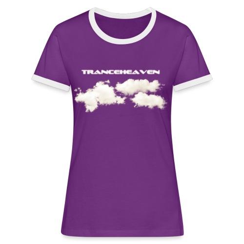 tranceheaven - Kontrast-T-shirt dam