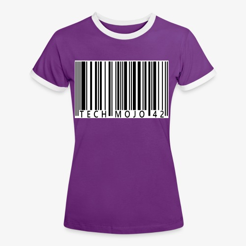 TM graphic Barcode Answer to the universe - Women's Ringer T-Shirt