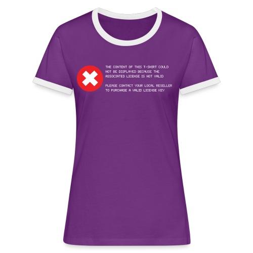 T-shirt Error - Maglietta Contrast da donna