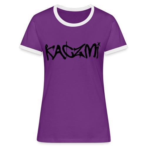 kaczmi - Koszulka damska z kontrastowymi wstawkami