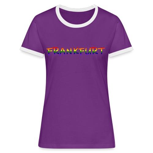 Frankfurt Rainbow #1 - Frauen Kontrast-T-Shirt