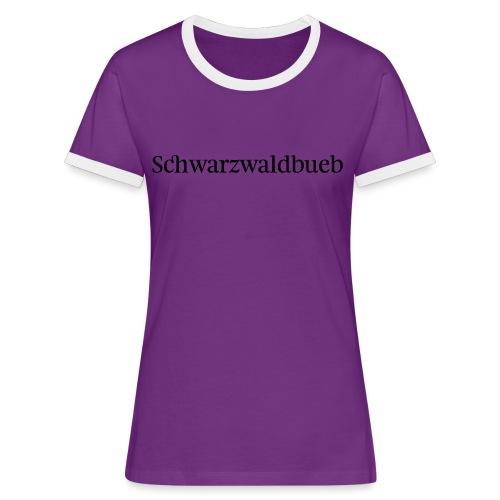 Schwarwaödbueb - T-Shirt - Frauen Kontrast-T-Shirt