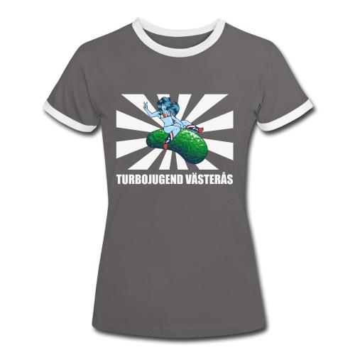 vasteras tshirt - Kontrast-T-shirt dam