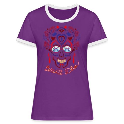 Skull Tattoo Art - Women's Ringer T-Shirt