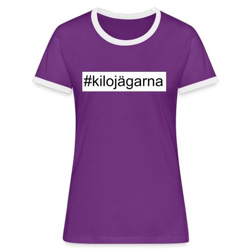 #kilo - Kontrast-T-shirt dam