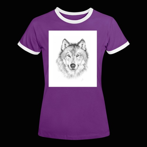 Wolf - Dame kontrast-T-shirt