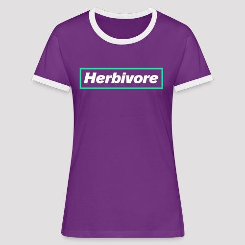 Herbivore Logo White - Maglietta Contrast da donna