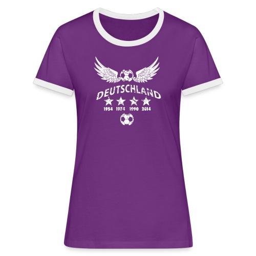 Germany football 2018 - Frauen Kontrast-T-Shirt