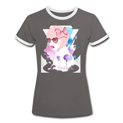 Le coeur - T-shirt contrasté Femme