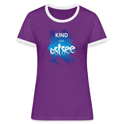 Kind der Ostsee - Frauen Kontrast-T-Shirt