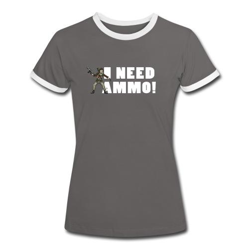 NeedAmmo 02 png - Women's Ringer T-Shirt