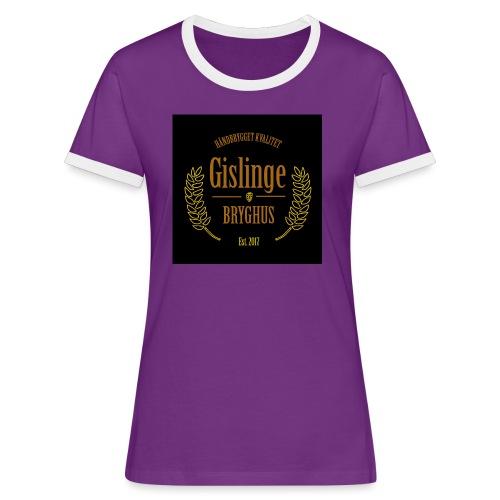 Sort logo 2017 - Dame kontrast-T-shirt