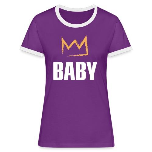 Baby mit Krone - Frauen Kontrast-T-Shirt