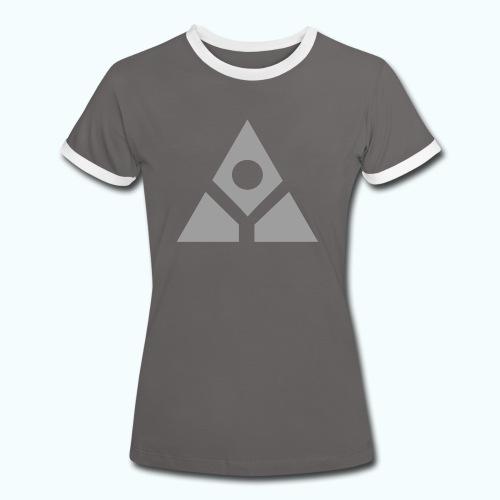 Sacred geometry gray pyramid circle in balance - Women's Ringer T-Shirt