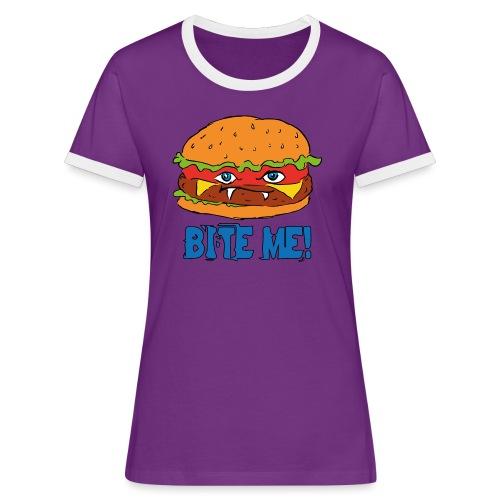 Bite me! - Maglietta Contrast da donna