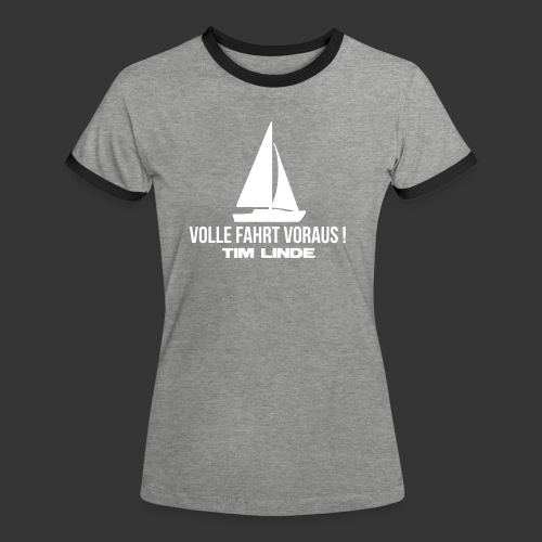 Logo 03 - Frauen Kontrast-T-Shirt