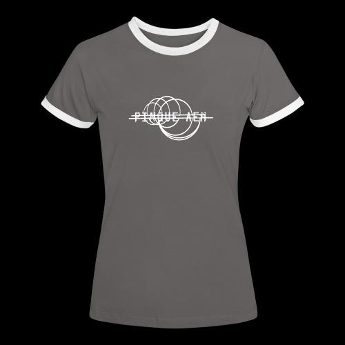 Pinque AEM Bianco - Maglietta Contrast da donna
