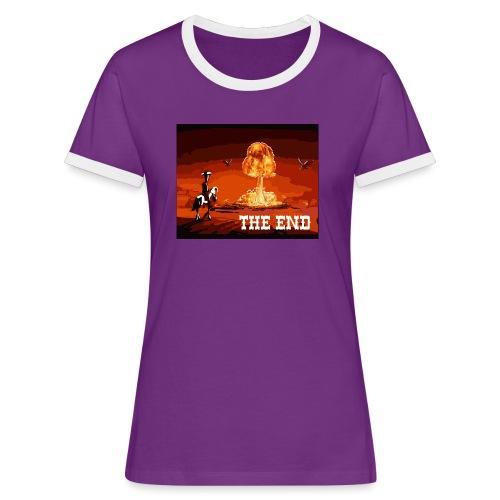 THE END (version 2 : pour toute couleur de fond) - T-shirt contrasté Femme