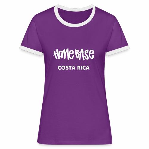 WORLDCUP Costa Rica - Frauen Kontrast-T-Shirt