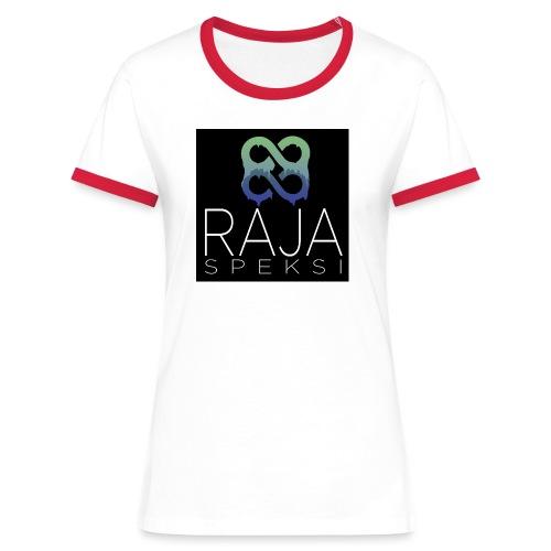 RajaSpeksin logo - Naisten kontrastipaita
