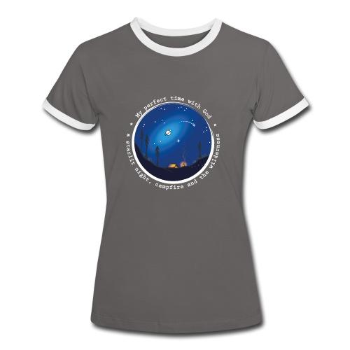 Sany O. Jesus Camping Star Wild Perfect Time God - Frauen Kontrast-T-Shirt