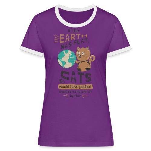 IF THE EARTH WAS FLAT - Kontrast-T-skjorte for kvinner