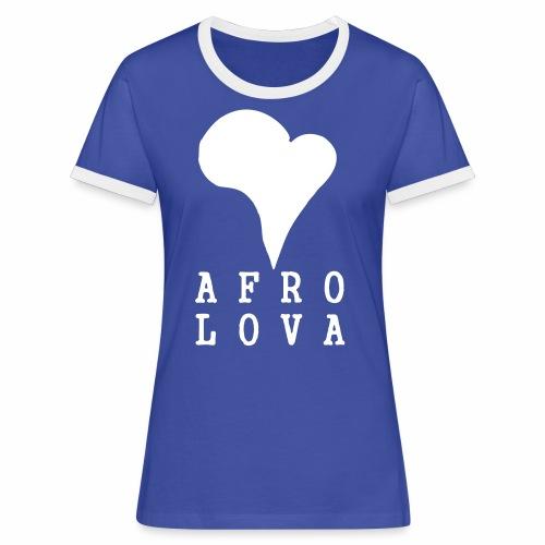 Afro Lova Original - T-shirt contrasté Femme