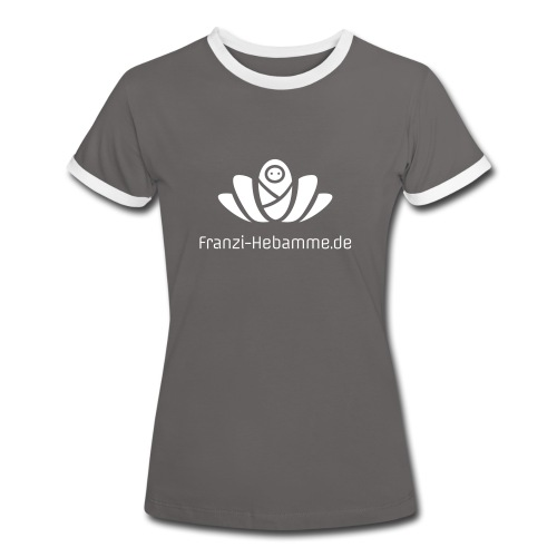 Franzi-Hebamme.de - Frauen Kontrast-T-Shirt