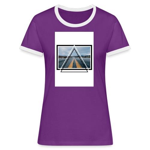 On the Road - T-shirt contrasté Femme