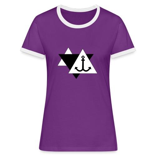 Anker 3 - Frauen Kontrast-T-Shirt