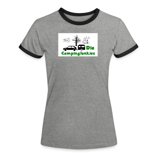 campingjunkies png - Frauen Kontrast-T-Shirt