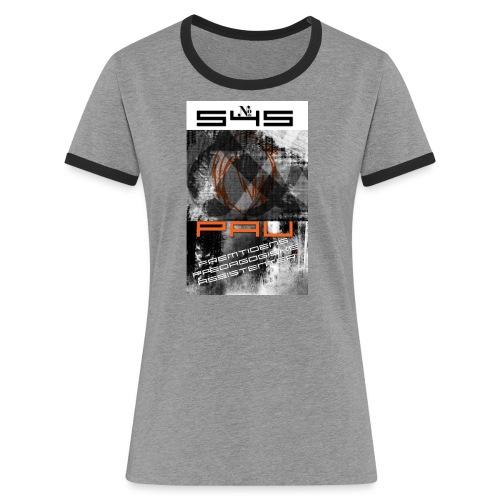Logo 1 - Dame kontrast-T-shirt