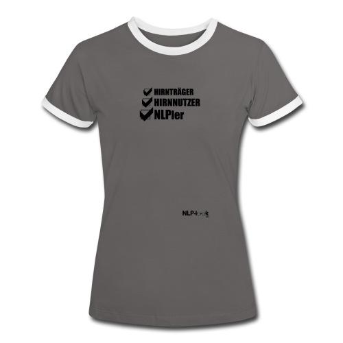 hirntraeger de b png - Frauen Kontrast-T-Shirt