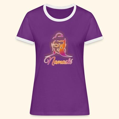 Buddha - Namasté - Frauen Kontrast-T-Shirt