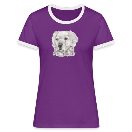 golden retriever - Dame kontrast-T-shirt