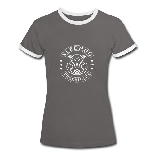 Sledhog-logo_2 - Naisten kontrastipaita