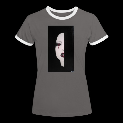 BlackWhitewoman - Maglietta Contrast da donna